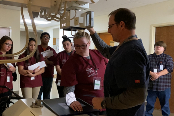 students getting hands-on experience at ronan hospital